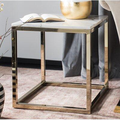 Katara End Table Table Base Color: Brass