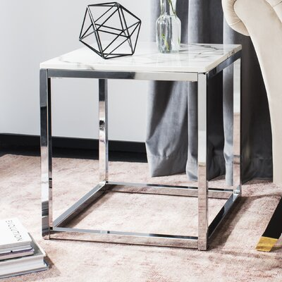 Katara End Table Table Base Color: Chrome