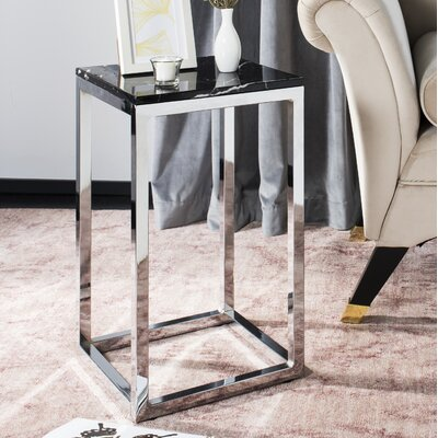 Katrina End Table Table Base Color: Chrome