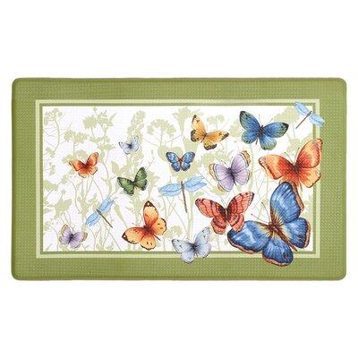Ebersole Anti Fatigue Butterflies Kitchen Mat