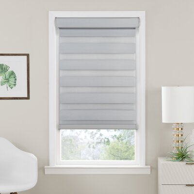 Elem Cordless Celestial Double Layered Room Darkening Roller Shade Blind Size: 27W x 72L, Finish: Oyster