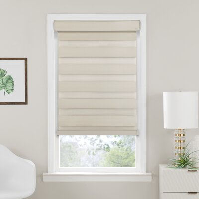 Elem Cordless Celestial Double Layered Room Darkening Roller Shade Blind Size: 36W x 72L, Finish: Tan