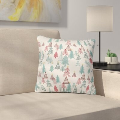 Dash and Ash Me Oh My Trees Throw Pillow Size: 16 x 16