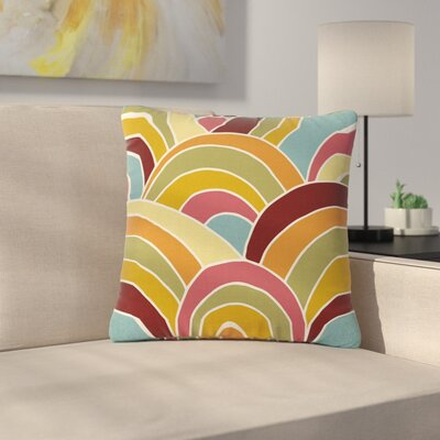 Nacho Filella Arcs Digital Outdoor Throw Pillow Size: 16 H x 16 W x 5 D