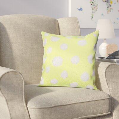 Iman Cotton Throw Pillow Color: Lime