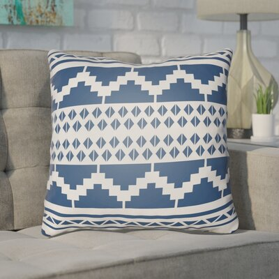 Adamson Geometric Throw Pillow Size: 20 H x 20 W x 3.5 D, Color: Indigo