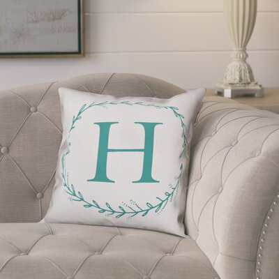 Jaycee Monogram Wreath Throw Pillow