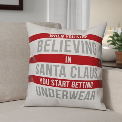 Dont Stop Believing Throw Pillow Size: 20 x 20, Type: Throw Pillow