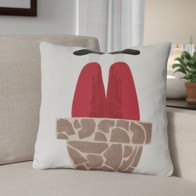 Away He Goes Throw Pillow Size: 20 H x 20 W, Color: White