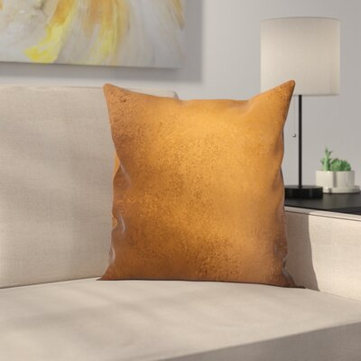 Grunge Vintage Square Pillow Cover Size: 16 x 16