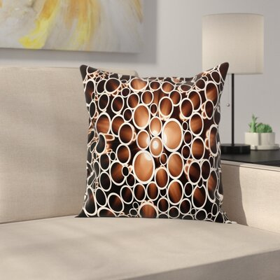 Round Pipes Square Pillow Cover Size: 16 x 16