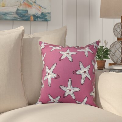 Cedarville Soft Starfish Geometric Print Throw Pillow Size: 26 H x 26 W, Color: Purple