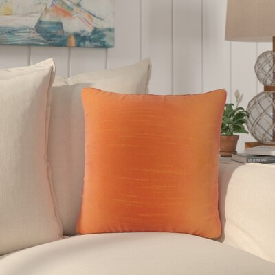 Popinac Solid Throw Pillow Color: Tangerine
