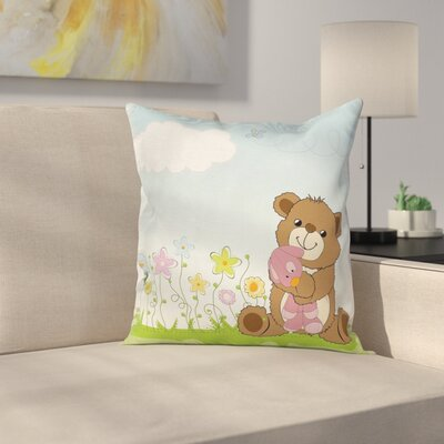 Teddy Bear Pillow Cover Size: 18 x 18