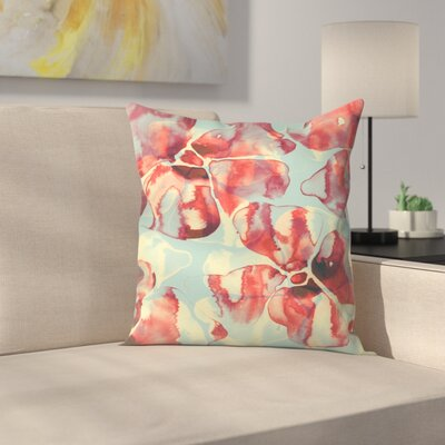 Tracie Andrews Ink Flowers Throw Pillow Size: 14 x 14