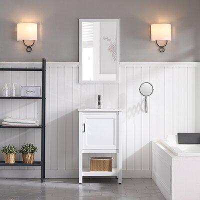 Mattis 20 Wall-Mounted Single Bathroom Vanity Set with Mirror Base Finish: Matte White