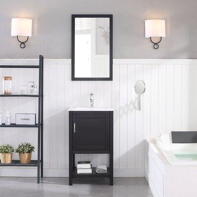 Mattis 20 Wall-Mounted Single Bathroom Vanity Set with Mirror Base Finish: Espresso
