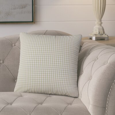 Bergmann Plaid Cotton Throw Pillow Color: Beige