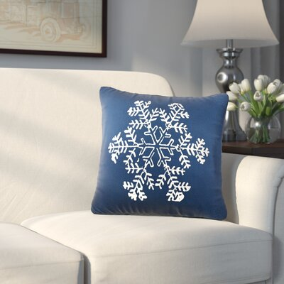 Mifflin Cotton Throw Pillow Color: Navy / White