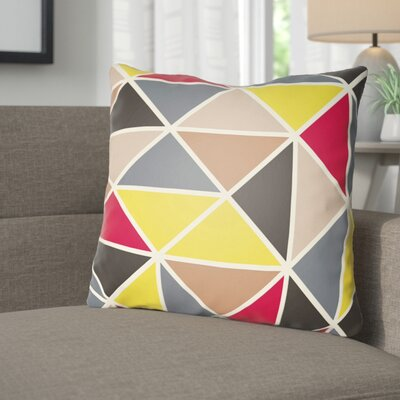 Walpole Throw Pillow Size: 18 H x 18 W x 4 D, Color: Yellow