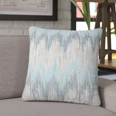 Koussa Ikat Throw Pillow Color: Teal