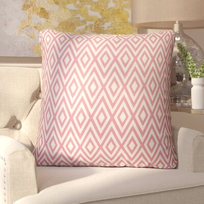 Adelyn Throw Pillow Color: Pink