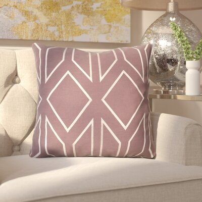 Honiton Linen Throw Pillow Size: 20 H x 20 W x 4 D, Color: Eggplant