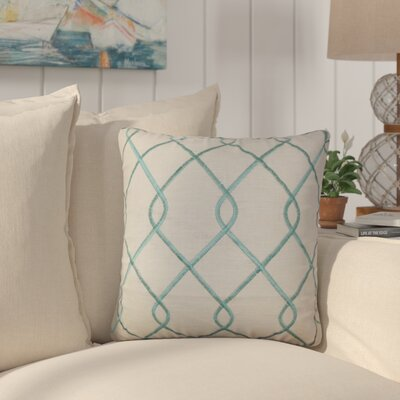 Larchwood Geometric Throw Pillow Color: Aqua Blue