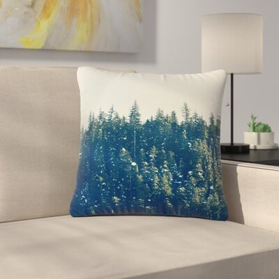 Robin Dickinson Take the Road Less Traveled Outdoor Throw Pillow Size: 18 H x 18 W x 5 D