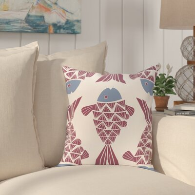 Grand Ridge Big Fish Coastal Throw Pillow Size: 16 H x 16 W, Color: Purple