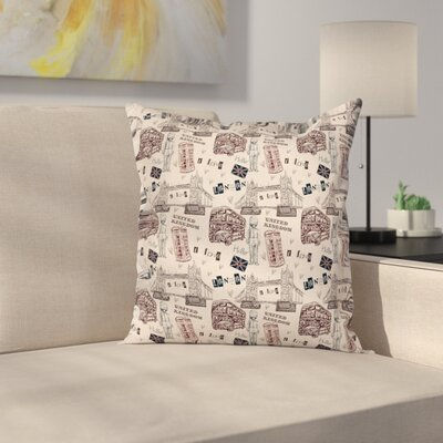 Modern Decor City UK Landmarks Cushion Pillow Cover Size: 16 x 16