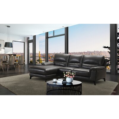 Litten Leather Sectional Orientation: Left Hand Facing