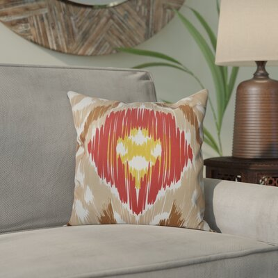 Bridgehampton Traditional Geometric Print Throw Pillow Size: 18 H x 18 W, Color: Taupe