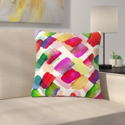 Ebi Emporuim Strokes of Genius 2, Rainbow Outdoor Throw Pillow Size: 16 H x 16 W x 5 D