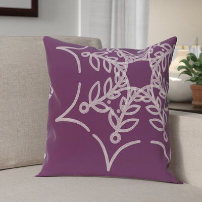 Web Art Holiday Print Outdoor Throw Pillow Size: 18 H x 18 W, Color: Purple