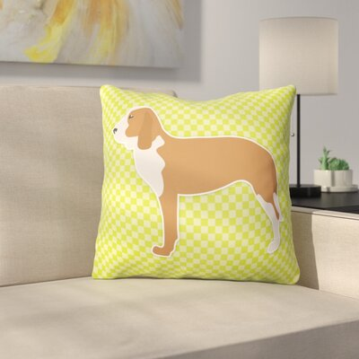 Spanish Hound Indoor/Outdoor Throw Pillow Size: 18 H x 18 W x 3 D, Color: Green