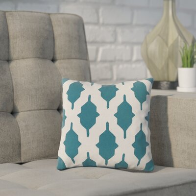 Meadors Throw Pillow Size: 22 H x 22 W x 4 D, Color: Teal, Filler: Down