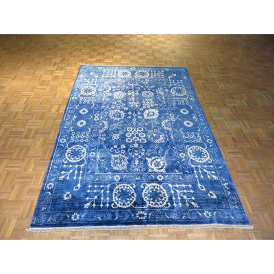 One-of-a-Kind Pellegrino Oushak Hand-Knotted Wool Blue Area Rug
