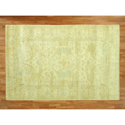 One-of-a-Kind Padang Sidempuan Modern Hand-Knotted Wool Beige Area Rug
