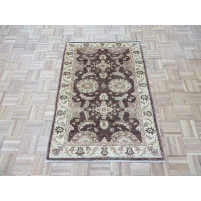 One-of-a-Kind Railsback Oushak Hand-Knotted Wool Brown Area Rug