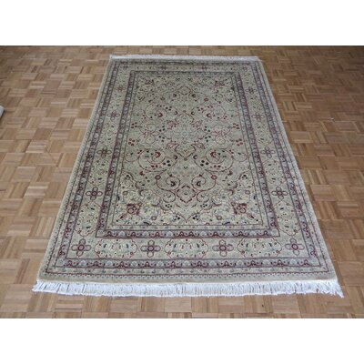 One-of-a-Kind Padro Hand-Knotted Wool Beige Area Rug