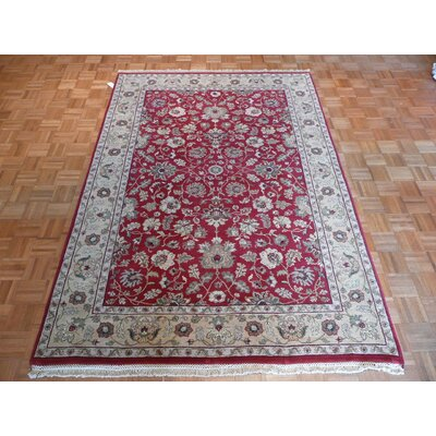 One-of-a-Kind Railey Hand-Knotted Wool Red Area Rug