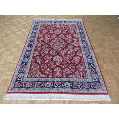 One-of-a-Kind Padro Sarouk Hand-Knotted Red Area Rug