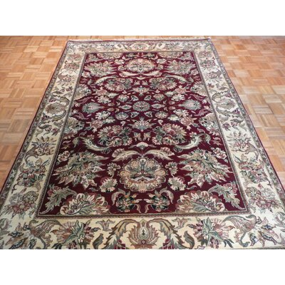 One-of-a-Kind Railey Hand-Knotted Wool Rust Burgundy Area Rug