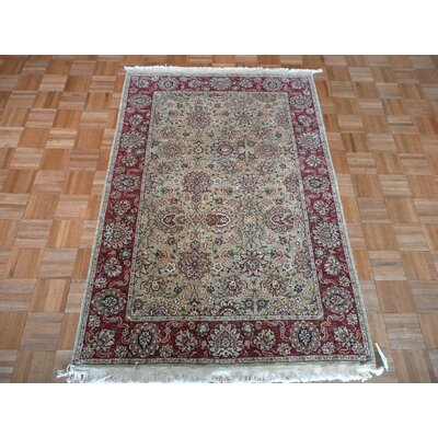 One-of-a-Kind Railsback Hand-Knotted Wool Light Green Area Rug