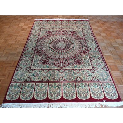 One-of-a-Kind Pellegrino Hand-Knotted Wool Red Area Rug
