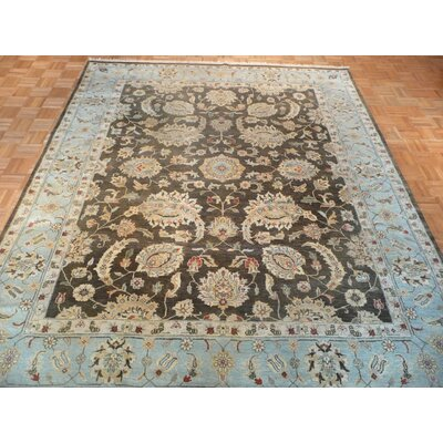 One-of-a-Kind Railsback Oushak Hand-Knotted Wool Brown/Blue Area Rug