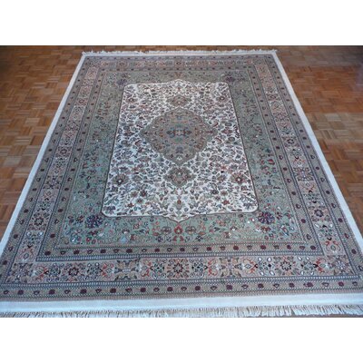 One-of-a-Kind Josephson Hand-Knotted Green Area Rug