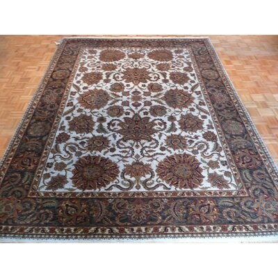 One-of-a-Kind Railey Hand-Knotted Light Blue Area Rug