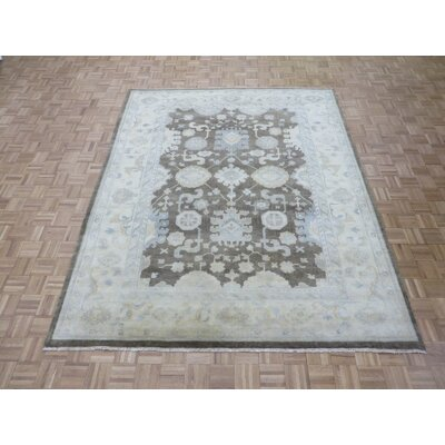 One-of-a-Kind Josephson Oushak Hand-Knotted Wool Brown Area Rug Rug Size: Rectangle 10 x 14